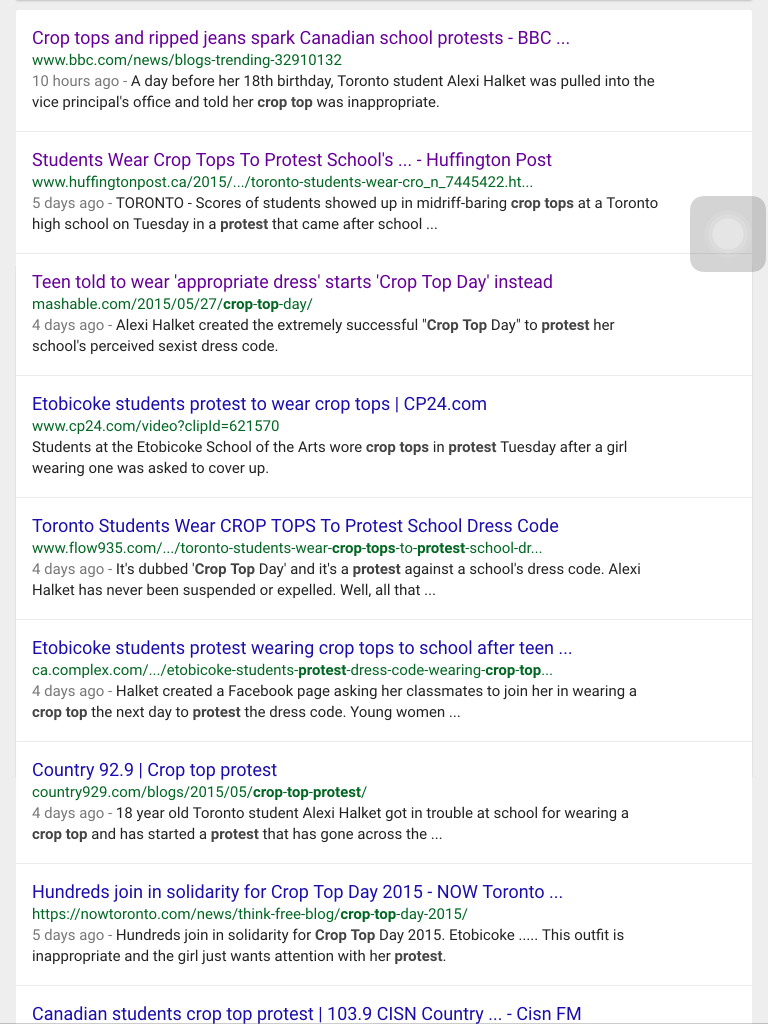 crop top protests reconsidered the association for media literacy e g why might news editors think that their viewers listeners readers care that some people are sent home from school for their clothing choices